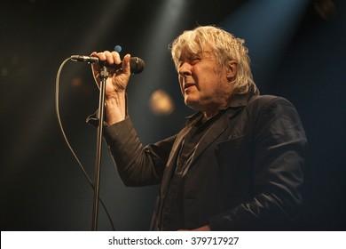 Amsterdam, The Netherlands - 20 February, 2016: concert of Belgian rock singer Arno for his album release Human Incognito at venue Melkweg