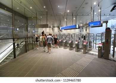 Amsterdam, The Netherlands - 22 july 2018: opening North South metro line