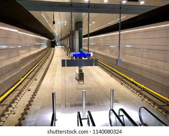 Amsterdam, the Netherlands; 23 July 2018; metro station vijzelsgracht in Amsterdam which is part of the new north south line 52 metro system in Amsterdam.