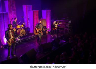 Amsterdam, The Netherlands, 27 May, 2016: concert of Scottish folk rock band Travis at venue Melkweg