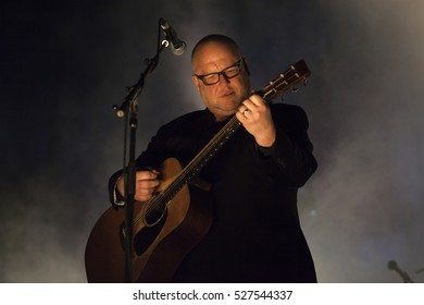 Amsterdam, The Netherlands - 27 November 2016: Black Francis lead singer of the American alternative indie rock band the Pixies is performing at Heineken Music Hall