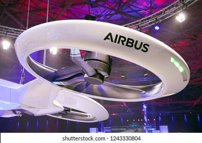 Amsterdam, Netherlands 28 november 2018; Airbus drone propellor iat an exibition in Amsterdam