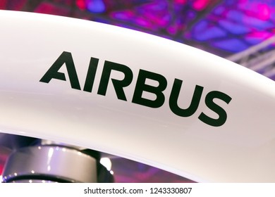 Amsterdam, Netherlands 28 november 2018; Airbus letters on a drone in amsterdam