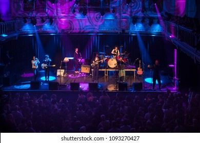 Amsterdam, The Netherlands - 7 May 2018: Concert of French band Les Negresses Vertes during their tour MLAH in Paradiso Amsterdam.