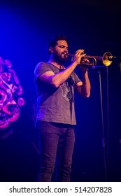 Amsterdam, The Netherlands, 9 November 2016: concert of  Australian ska and jazz band The Cat Empire at venue Melkweg