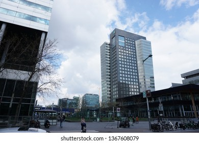 Amsterdam, The Netherlands - April 12 2019: A picture of the ABN-Amro on the Zuidas in Amsterdam, The Netherlands.