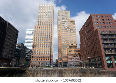 Amsterdam, The Netherlands - April 12 2019: A picture of the Zuidas in Amsterdam, The Netherlands.