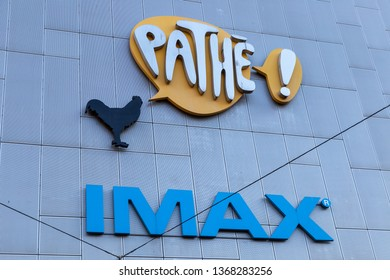 Amsterdam, The Netherlands. April 12th 2019: Cinema Pathe Arena at the Amsterdam Bijlmer ArenA station and soccer stadium.