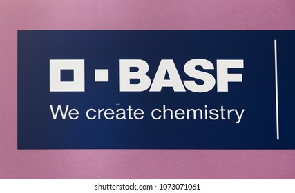 Amsterdam, Netherlands -april 19, 2018:  Letters basf on a wall in Amsterdam