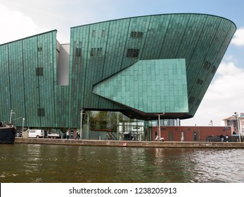 Amsterdam, Netherlands - April 20, 2017: NEMO Science Museum in Amsterdam, the Netherlands