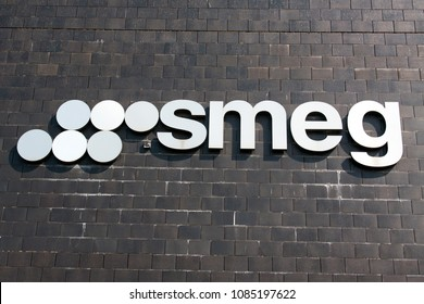 Amsterdam, Netherlands -april 22, 2018: Letters smeg on a building in Amsterdam