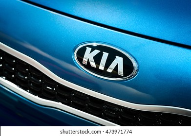 Amsterdam, NETHERLANDS - APRIL 25, 2015: Kia Motors Corporation, headquartered in Seoul, is South Korea's second-largest automobile manufacturer, with sales of over 2.7 million vehicles in 2012.