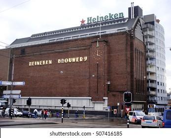 Amsterdam, Netherlands - April 3, 2010. View of the Heineken Brewery or Heineken Experience in Amsterdam.