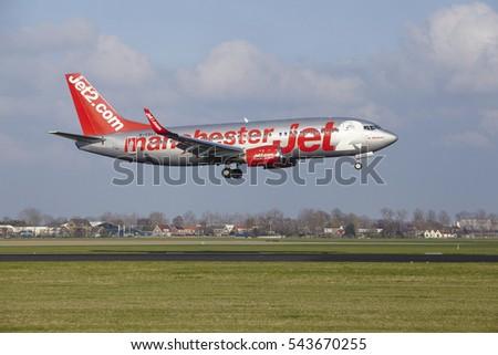 AMSTERDAM NETHERLANDS APRIL 8 Jet 2 Manchester Stock Photo
