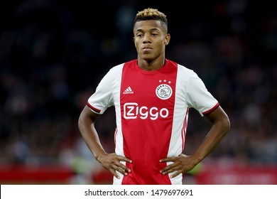 Amsterdam, Netherlands - August 13, 2019. Ajax's player David Neres during a soccer match between Ajax AFC and PAOK FC.
