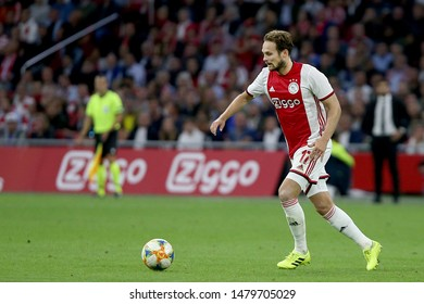 Amsterdam, Netherlands - August 13, 2019. Ajax's player Daley Blind in action during a soccer match between Ajax AFC and PAOK FC.