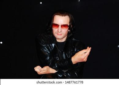 Amsterdam, Netherlands - August 15, 2010: Madame Tussauds wax museum: Bono Vox U2