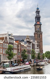 AMSTERDAM, NETHERLANDS - AUGUST 19: Westerkerk in Amsterdam. Amsterdam is the capital and most populous city of the Netherlands on August 19, 2014