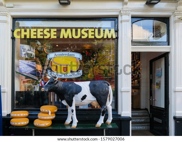 Amsterdam, Netherlands - august 2016 : entrance to Amsterdam's famous cheese museum