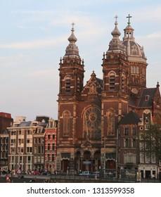 Amsterdam, Netherlands - August 22, 2017: Basilica of Saint Nicholas