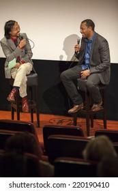 Amsterdam, The Netherlands - august 23 2014: at Rialto, interview of film director ZERESENAY BERHANE MEHARI, closing ceremony of World Cinema Amsterdam, world film festival held from 14 to 24/08/2014