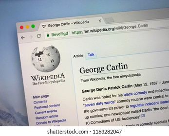 Amsterdam, the Netherlands - August 24, 2018: Wikipedia page about George Carlin.