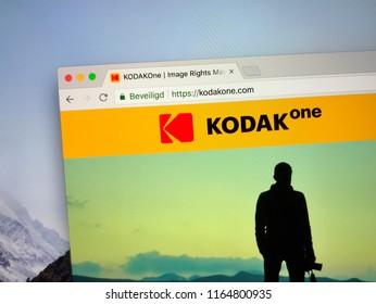 Amsterdam, the Netherlands - August 26, 2018: Website of KODAKOne, Ethereum blockchain based image rights management platform.