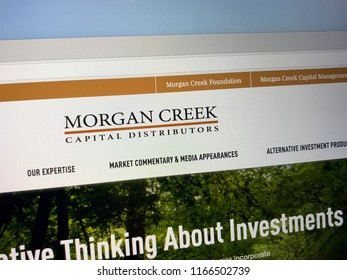 Amsterdam, the Netherlands - August 28, 2018: Website of Morgan Creek, a investment company.