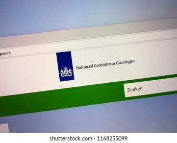 Amsterdam, the Netherlands - August 30, 2018: Dutch government Nationaal website  National Coordinator for Groningen (NCG), Dutch: Nationaal Coördinator Groningen.