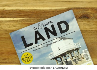 Amsterdam, the Netherlands - August 9, 2020: Dutch travel magazine promoting vacation in the Netherlands.