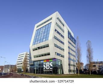 Amsterdam, Netherlands, December, 2016. Head office of SBS Broadcasting at Rietlandpark