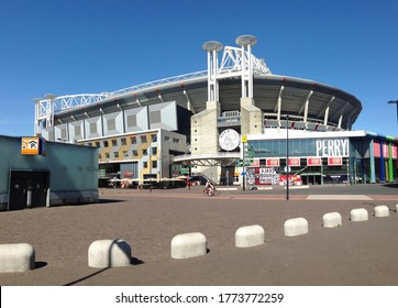 Amsterdam / Netherlands / Europe - August 08 2018: Facade of the Ajax Stadium.