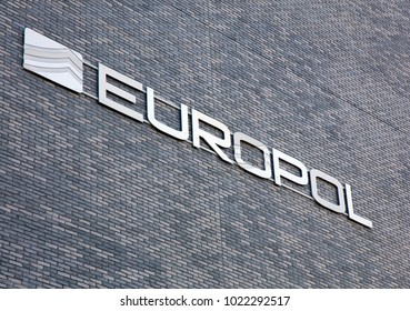 Amsterdam, Netherlands -february 11, 2018: Facade of the europol building in the hague, Netherlands