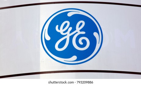 Amsterdam, Netherlands -january 14, 2018: General electric sign on a wall in Amsterdam