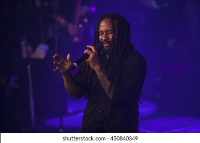 Amsterdam, The Netherlands - July, 1 2016: concert of reggae singers Gentleman and Ky-Mani Marley at Melkweg as part of cultural and world music festival Roots Amsterdam