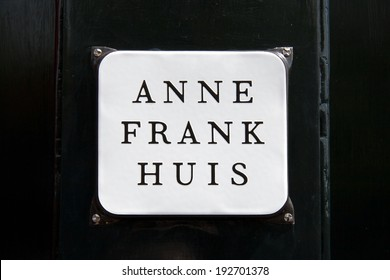 Amsterdam, Netherlands - July 10, 2011: Anne Frank House on Prinsengracht 263, the hiding place of Anne Frank during the war.