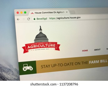 Amsterdam, the Netherlands - July 18, 2018: Website of The U.S. House Committee on Agriculture, or Agriculture Committee.
