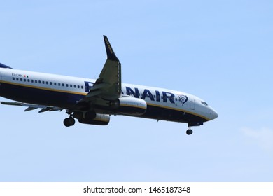 Amsterdam, the Netherlands - July 21st 2019: EI-EKP Ryanair Boeing 737-800 on final approach to Amsterdam Airport Schiphol Polderbaan runway