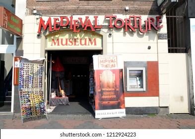 AMSTERDAM, NETHERLANDS - JULY 26, 2014: Medieval torture museum in Amsterdam, Holland