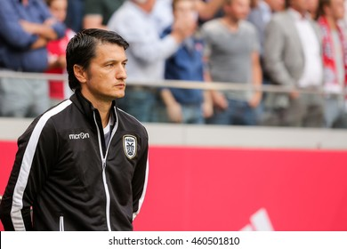 Amsterdam, Netherlands - July 26, 2016: Paok  Head Coach Vladimir Ivic during the UEFA Champions League third qualifying round between Ajax vs PAOK