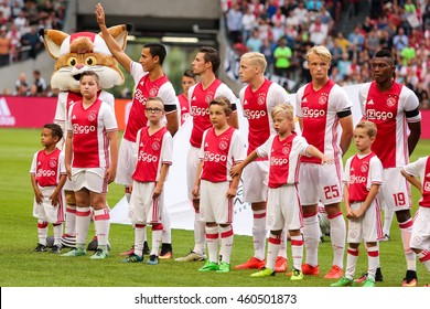 Amsterdam, Netherlands - July 26, 2016: Team photo of Ajax before the UEFA Champions League third qualifying round between Ajax vs PAOK