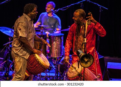 Amsterdam, The Netherlands - July, 3 2015: concert of african band BKO Quintet at Bimhuis, as part of cultural and world music festival Amsterdam Roots