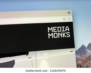 Amsterdam, the Netherlands - July 3, 2018: Website of MediaMonks, a Dutch a creative digital production company producing websites, games, and films.