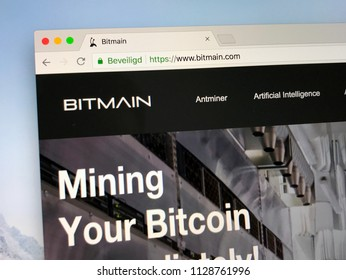 Amsterdam, the Netherlands - July 7, 2018: Website of Bitmain Technologies Ltd., or Bitmain, a bitcoin mining company.