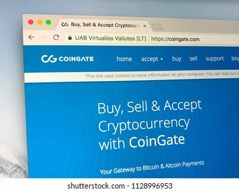 Amsterdam, the Netherlands - July 7, 2018: Website of CoinGate, a cryptocurrency payment gateway, enabling various businesses to accept Bitcoin and Altcoin payments.