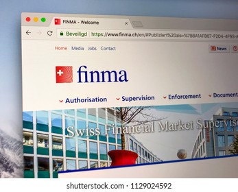 Amsterdam, the Netherlands - July 7, 2018: Website of The Swiss Financial Market Supervisory Authority or FINMA, the Swiss government body responsible for financial regulation.