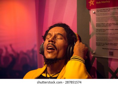 AMSTERDAM, NETHERLANDS - JUN 1, 2015: Bob Marley, Madame Tussauds museum in Amsterdam. Marie Tussaud was born as Marie Grosholtz in 1761