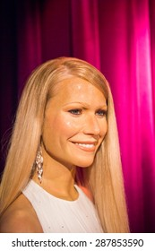 AMSTERDAM, NETHERLANDS - JUN 1, 2015: Gwyneth Paltrow, Madame Tussauds museum in Amsterdam. Marie Tussaud was born as Marie Grosholtz in 1761