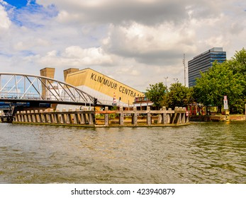 AMSTERDAM, NETHERLANDS - JUN 1, 2015: Architecture on the Canal of Amsterdam. Amsterdam is the capital city and most populous city of the Kingdom of the Netherlands