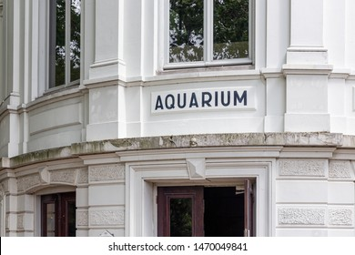 Amsterdam, The Netherlands - June 08, 2019: Entrance famous aquarium Amsterdam Artis Zoo in historical building